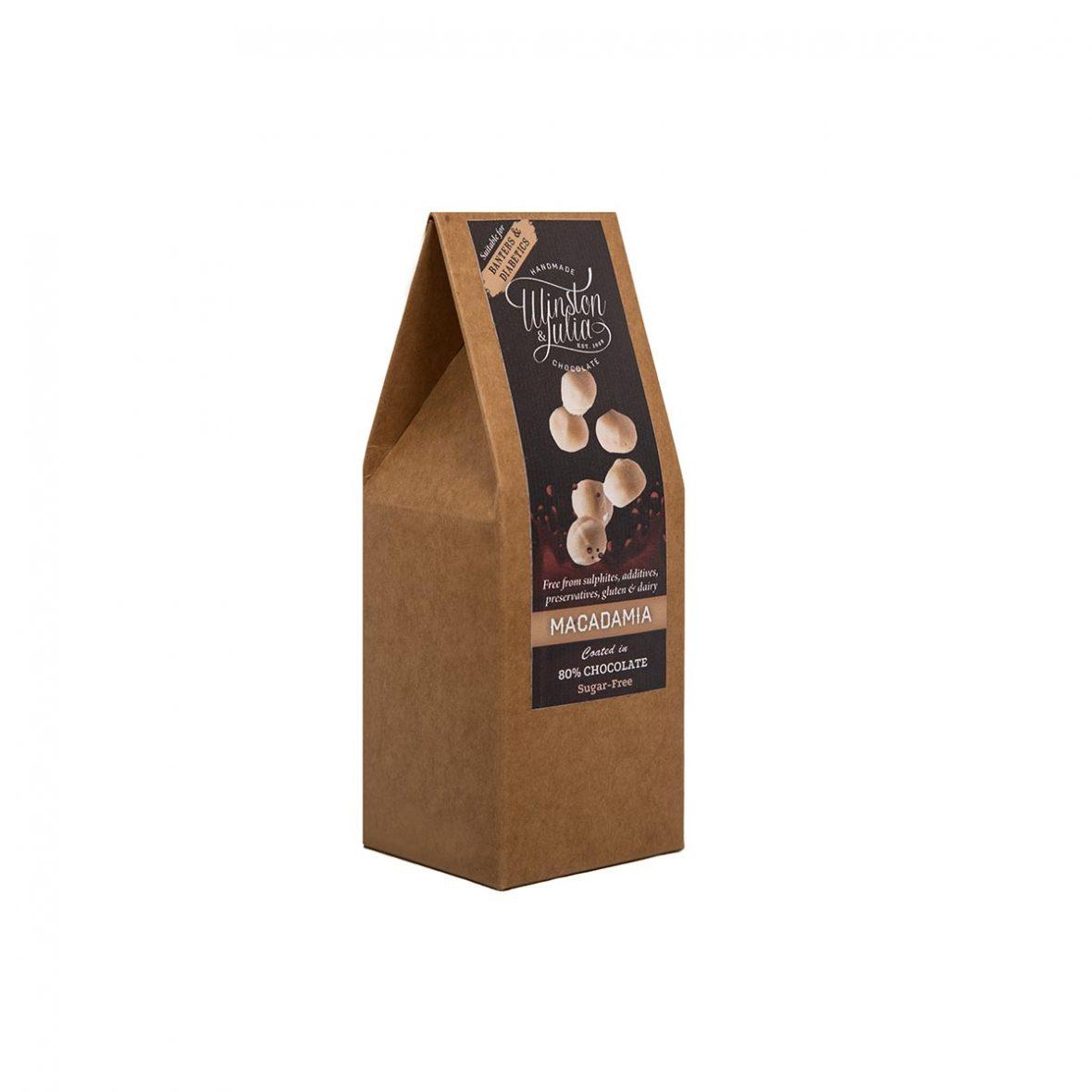 Macadamia Nuts 80% Sugar Free Chocolate Natural Collection
