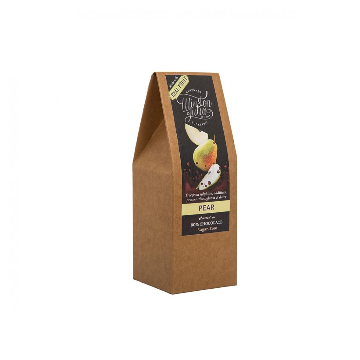 Pear 80% Sugar Free Chocolate Natural Collection