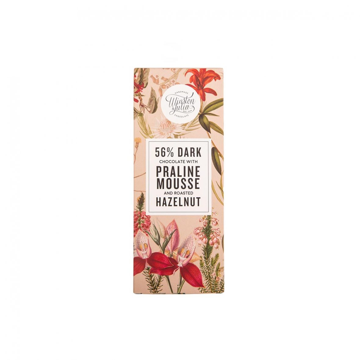Praline Hazelnut - 56% chocolate slab